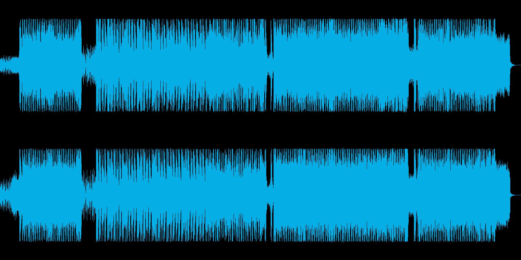 ワイルドでエキサイティングなロックポップの再生済みの波形