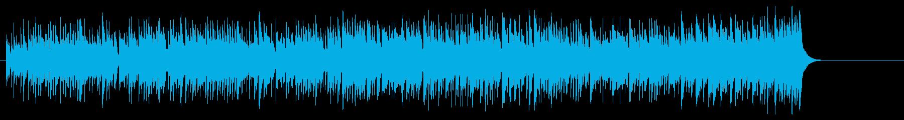 爽快な躍動感の情報向けポップフュージョンの再生済みの波形