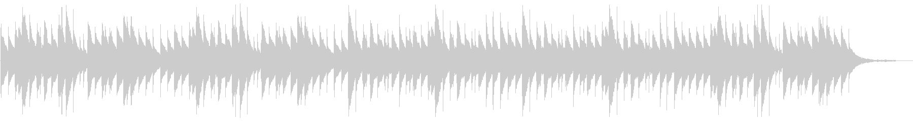悲しい旋律のオルゴールの未再生の波形