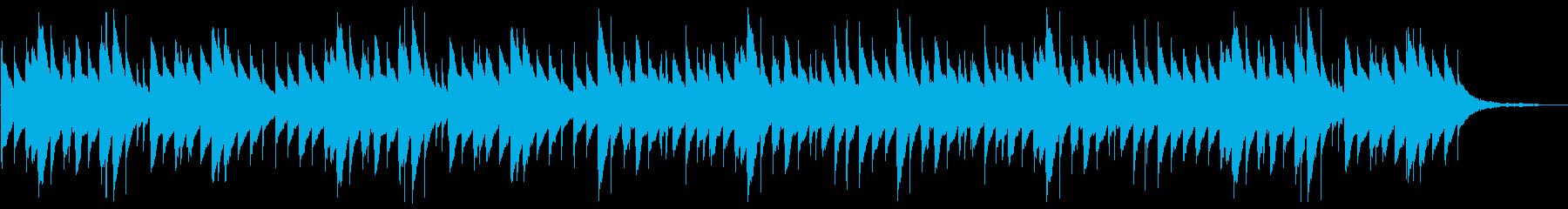 悲しい旋律のオルゴールの再生済みの波形