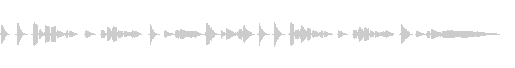 サックス一本での官能的な曲の未再生の波形