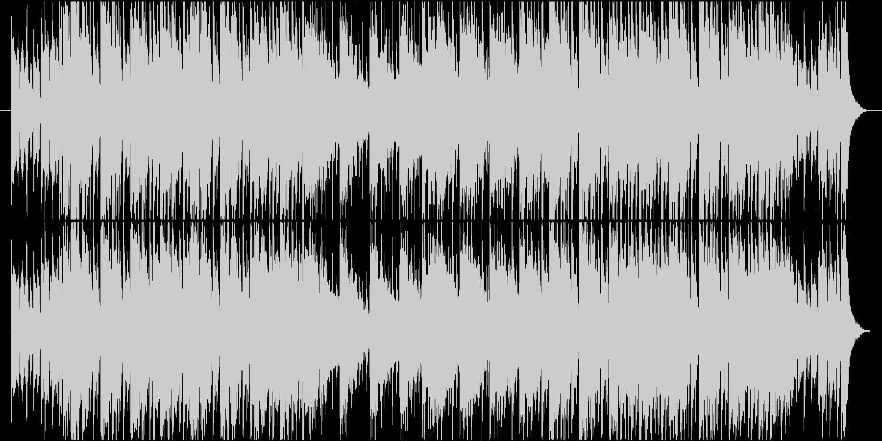 ファンキーな管楽器による都会的なTUNEの未再生の波形