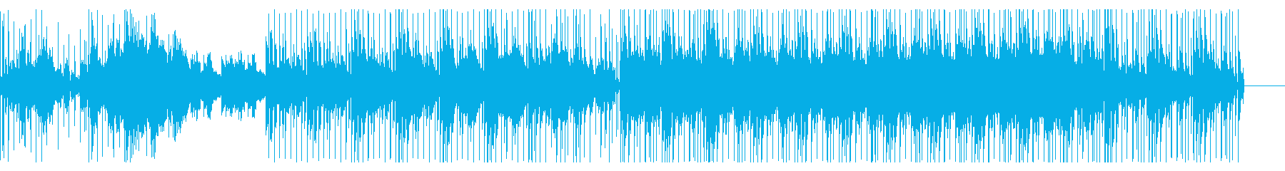 アコースティックギターをフィーチャBGMの再生済みの波形