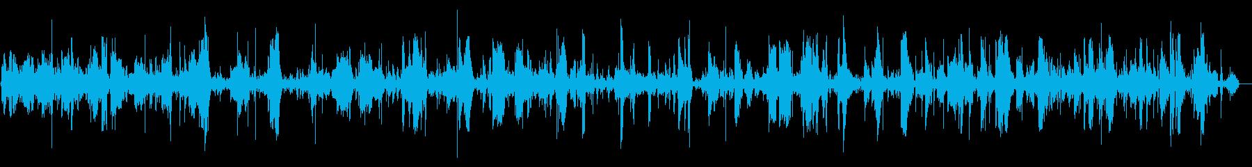 プクプクという激しい泡の音の再生済みの波形