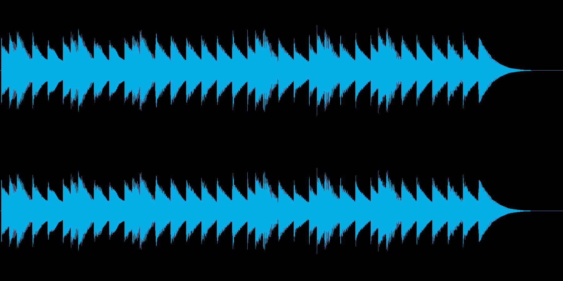 ワクワクするオルゴールBGM11秒の再生済みの波形