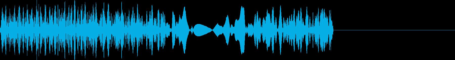 ショートスクラッチの再生済みの波形