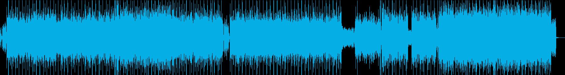 エッジの効いたラフなエレクトロロックの再生済みの波形