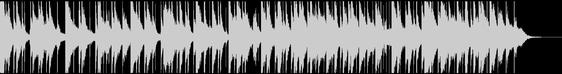 ピアノと三味線の日常的なBGMの未再生の波形