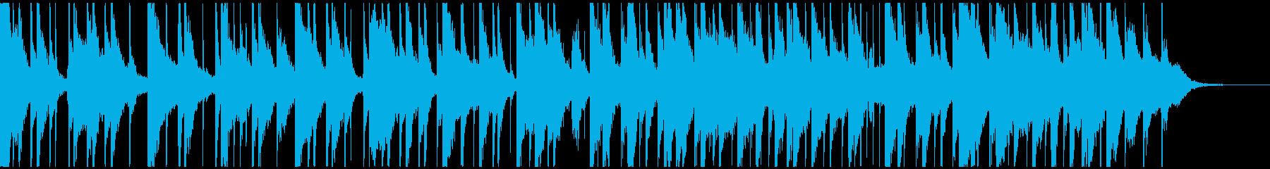ピアノと三味線の日常的なBGMの再生済みの波形