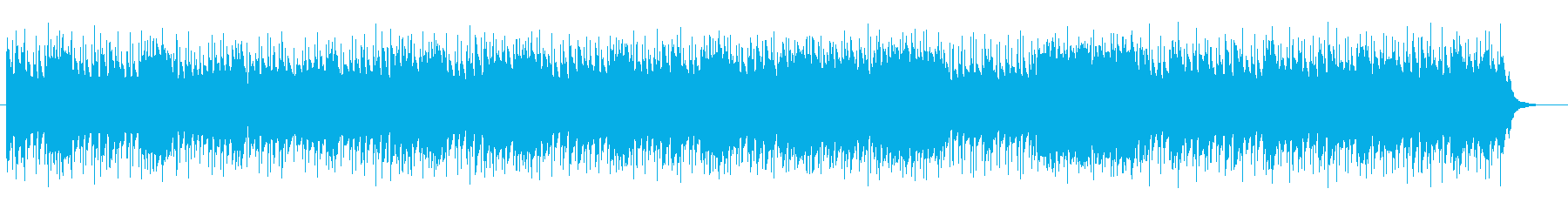 Minor, space-like synth BGM sound's reproduced waveform