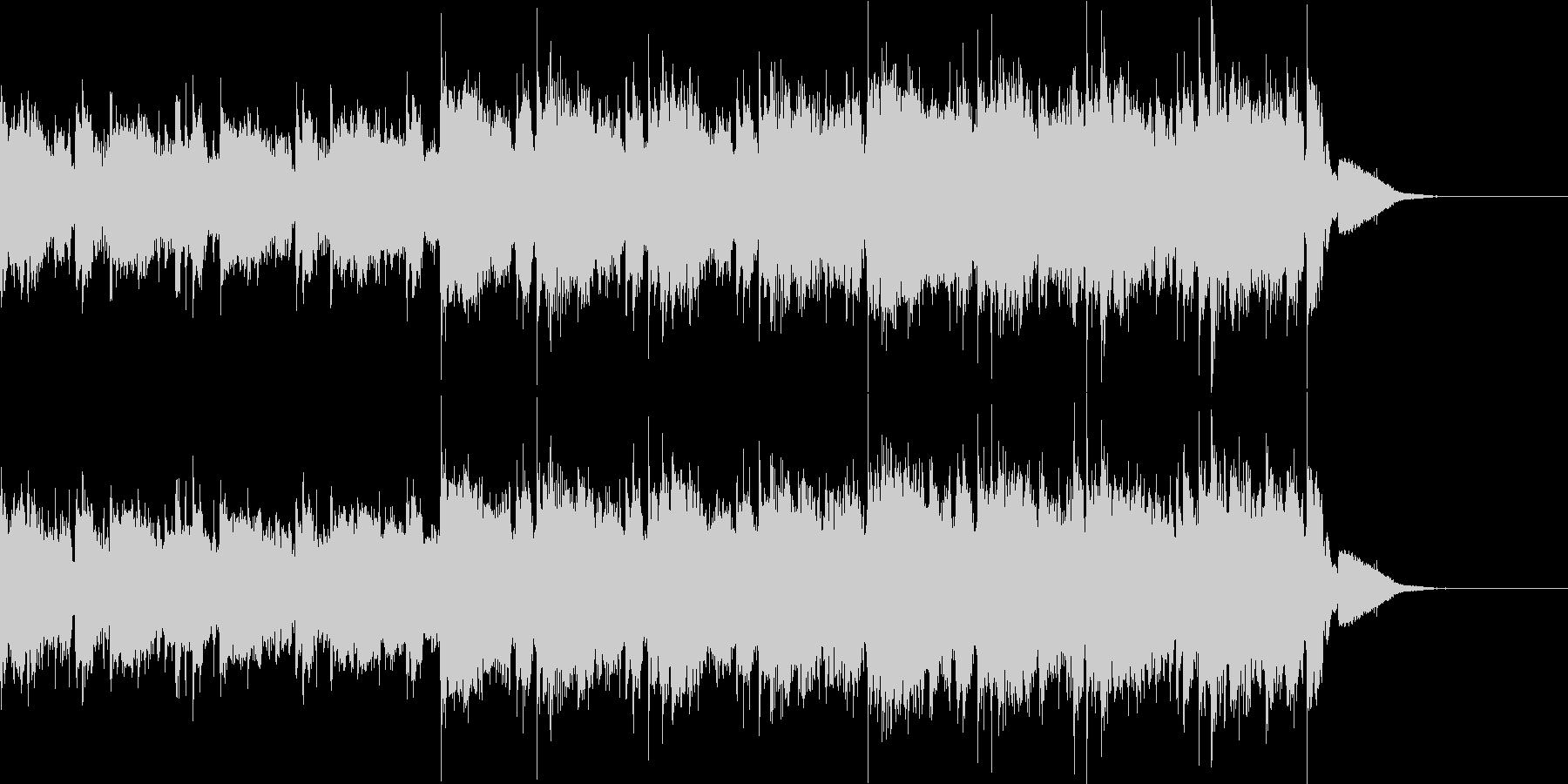 エレキギターのかっこいいBGMの未再生の波形