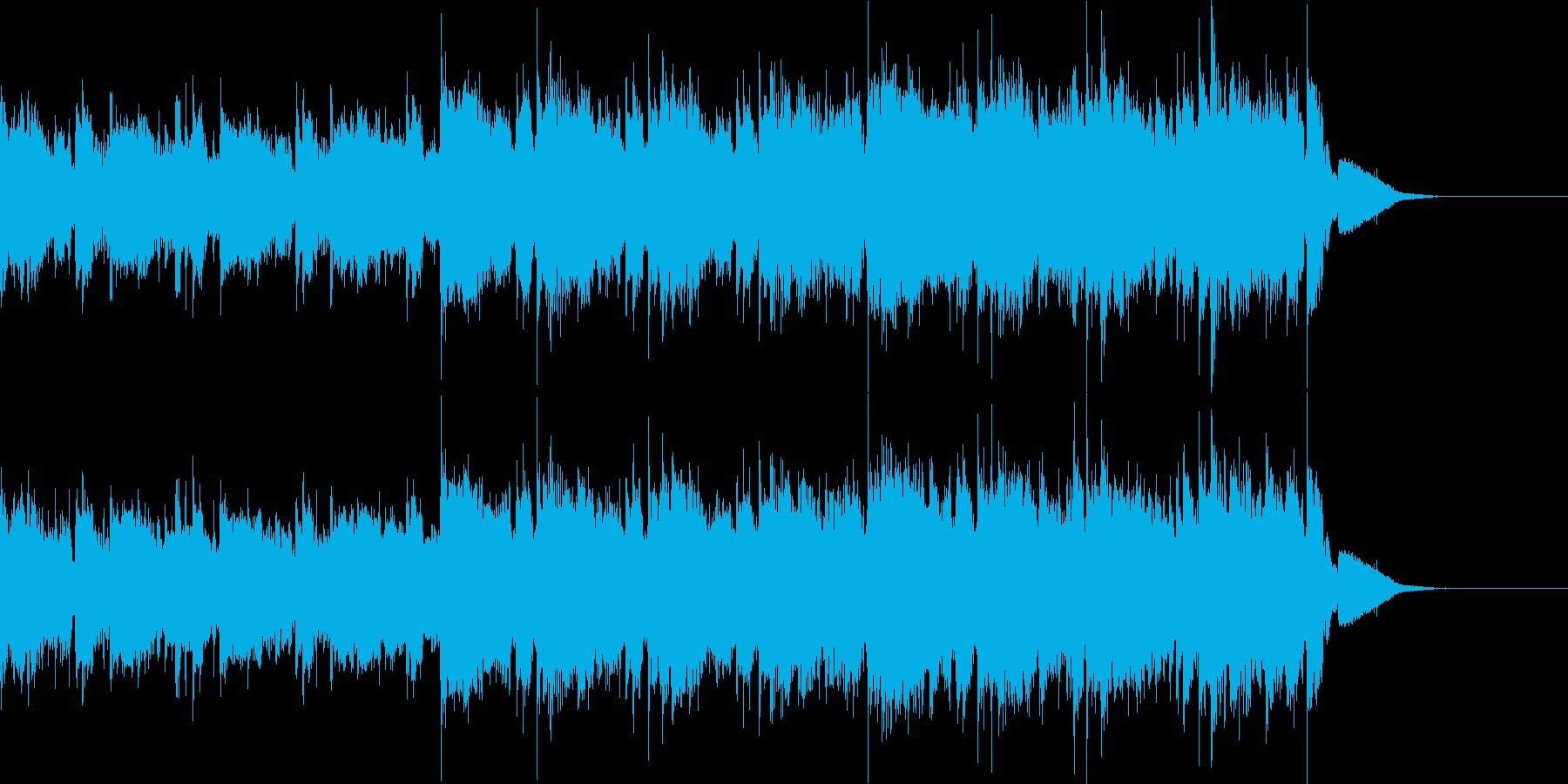 エレキギターのかっこいいBGMの再生済みの波形