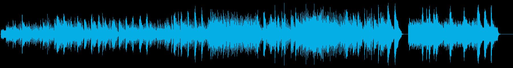 ピアノの古典的な曲の再生済みの波形