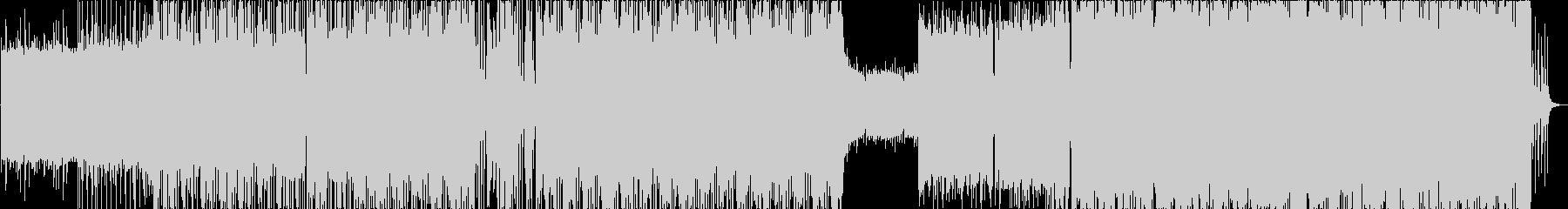 徐々に盛り上がるクールなファンキーロックの未再生の波形