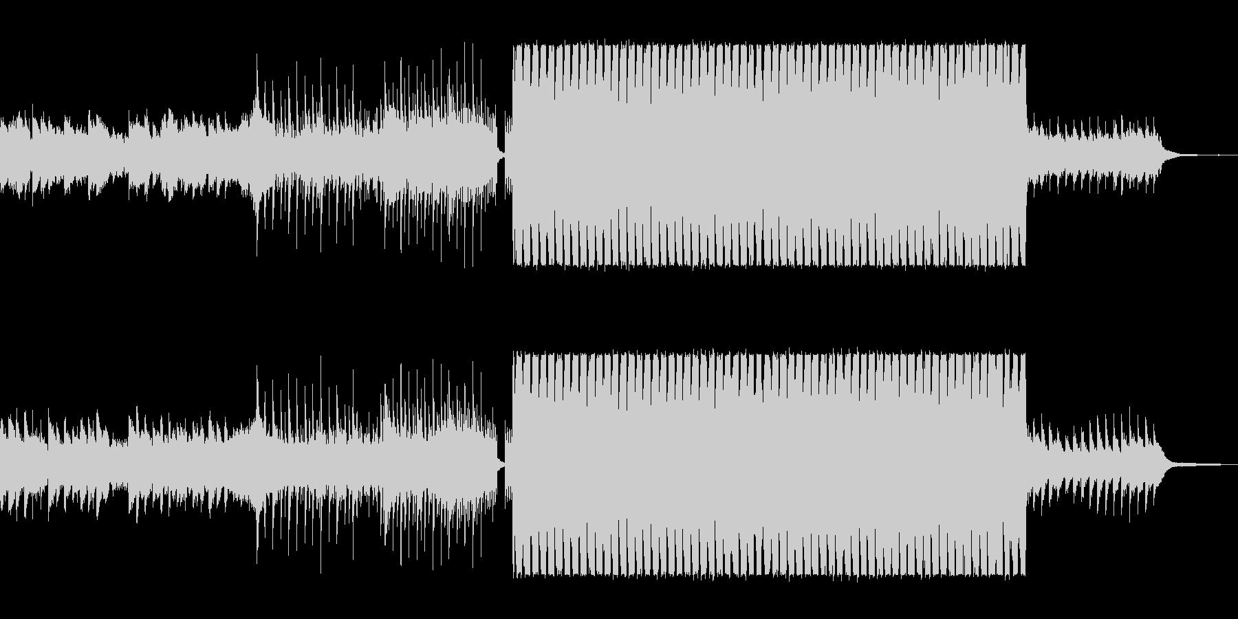 緩やかでまろやかなシンセポップサウンドの未再生の波形