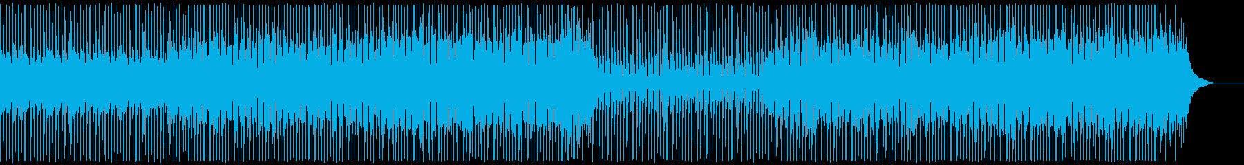 楽しい音楽の再生済みの波形
