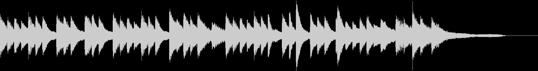 セピア色のノスタルジーなピアノジングルの未再生の波形