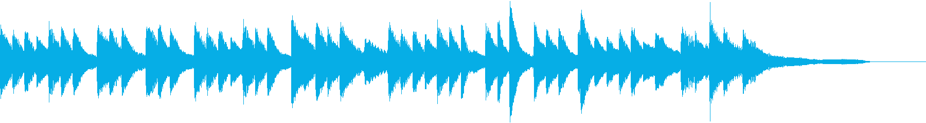 セピア色のノスタルジーなピアノジングルの再生済みの波形