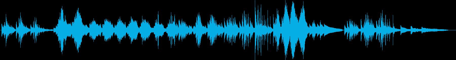 せせらぎ・光・風・穏やかなピアノソロの再生済みの波形