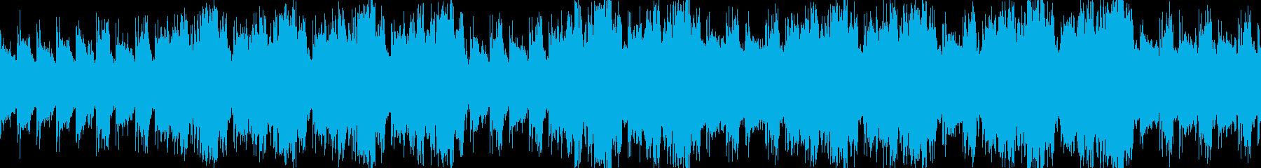 しっかりと前に進む行進をイメージした曲の再生済みの波形