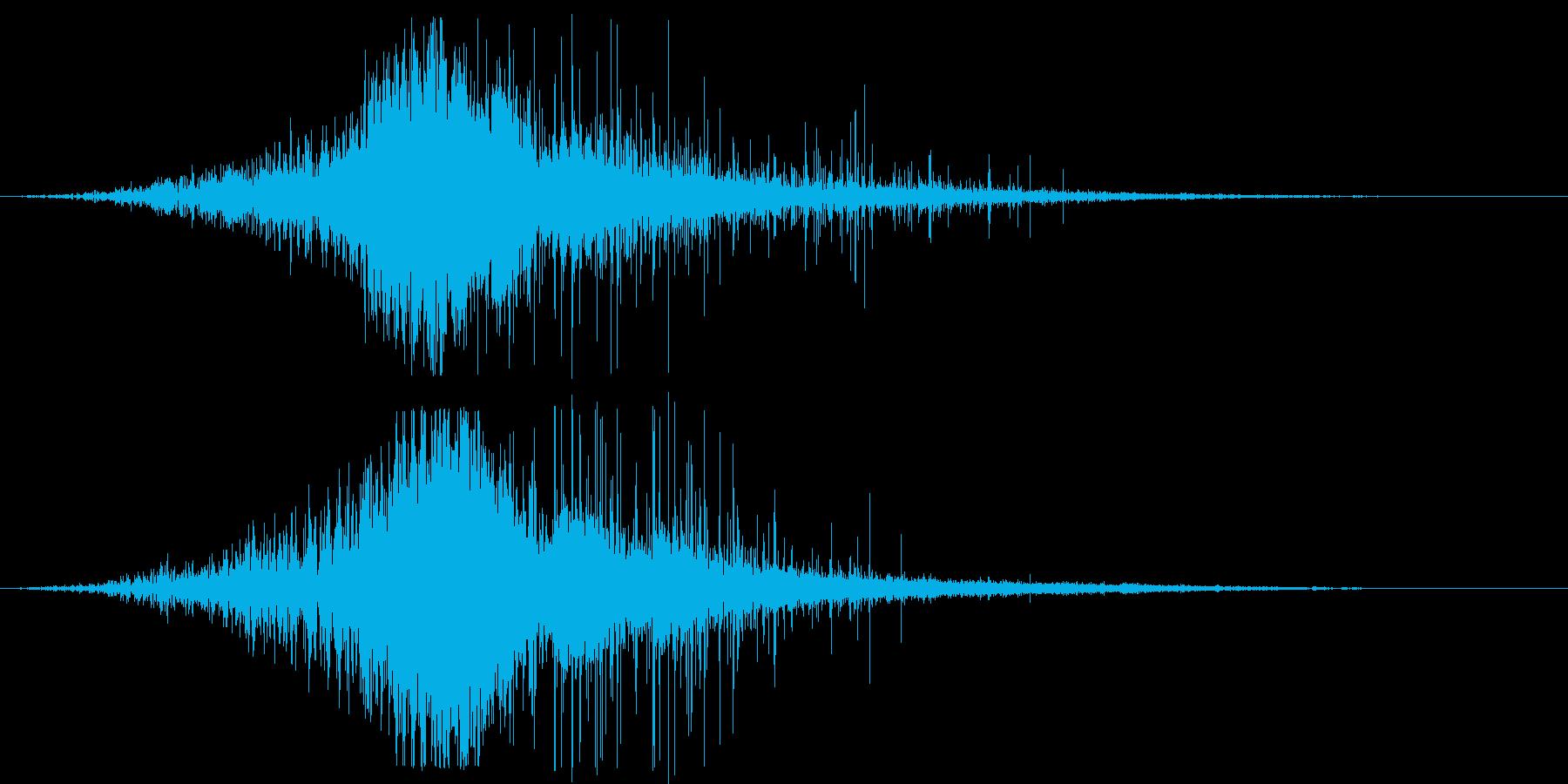 ホラー:フリーズスペルの再生済みの波形