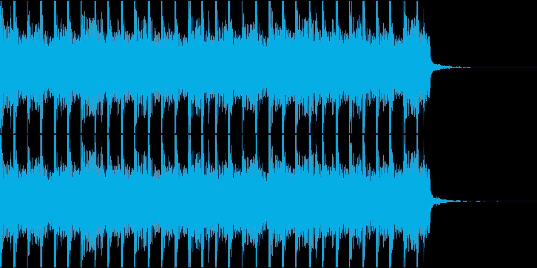ほのぼのとした脱力系BGMの再生済みの波形