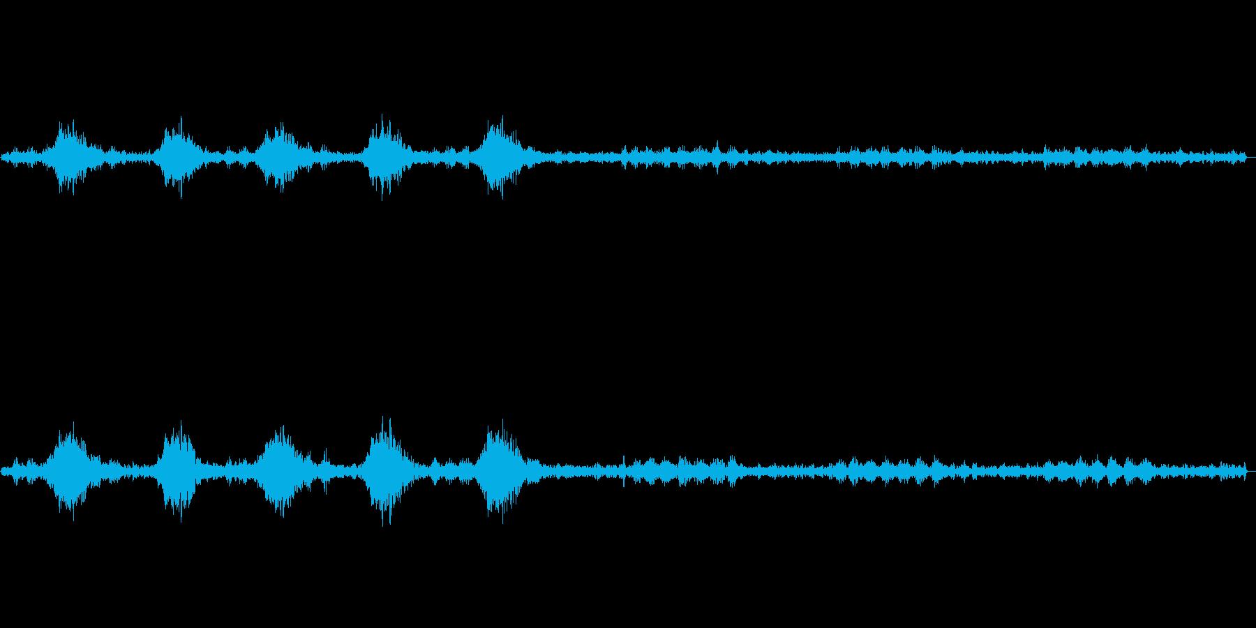 カァカァージジジ(カラスと虫の声)の再生済みの波形