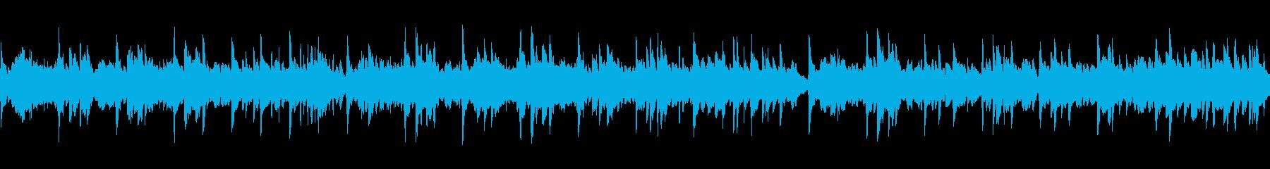 スライド・動画 シンプルなピアノ/ループの再生済みの波形