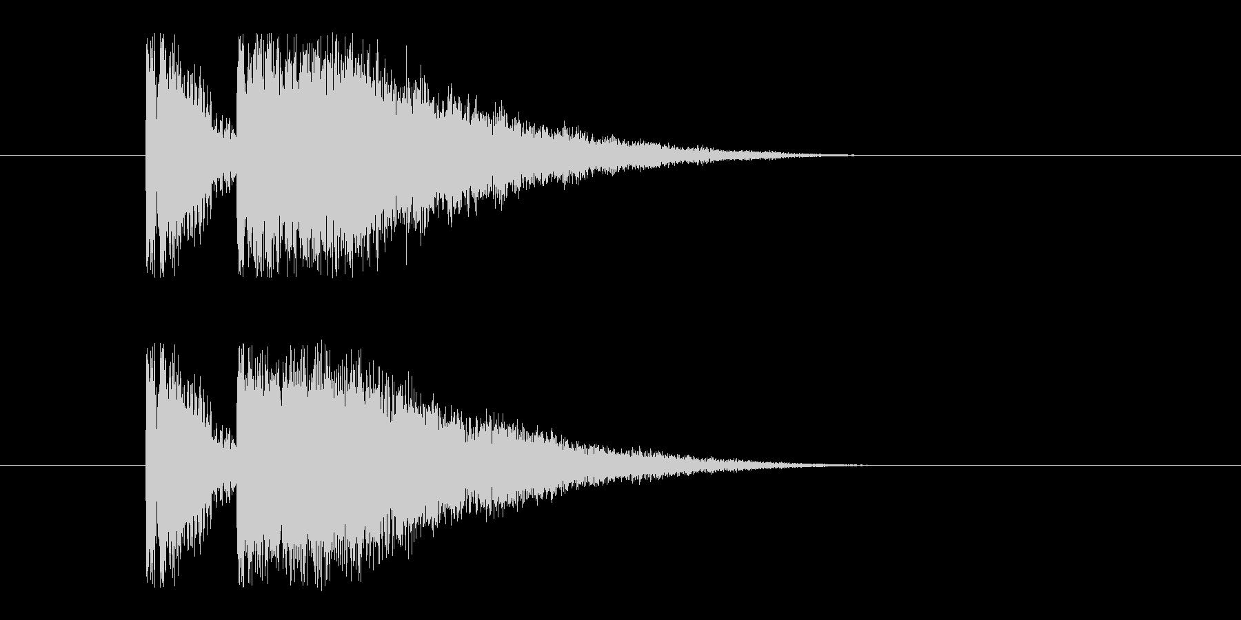 ビームライフル1の未再生の波形