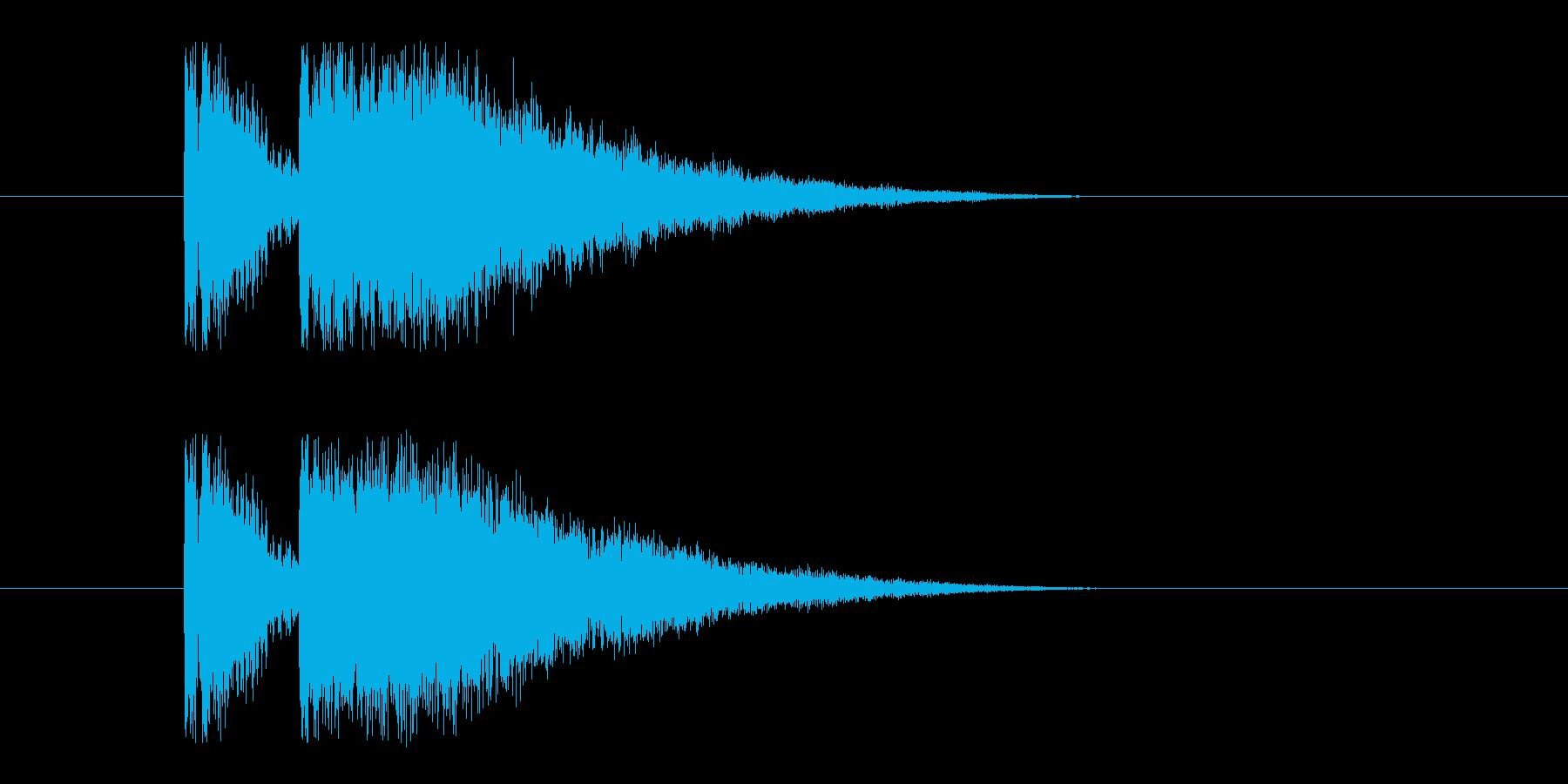 ビームライフル1の再生済みの波形