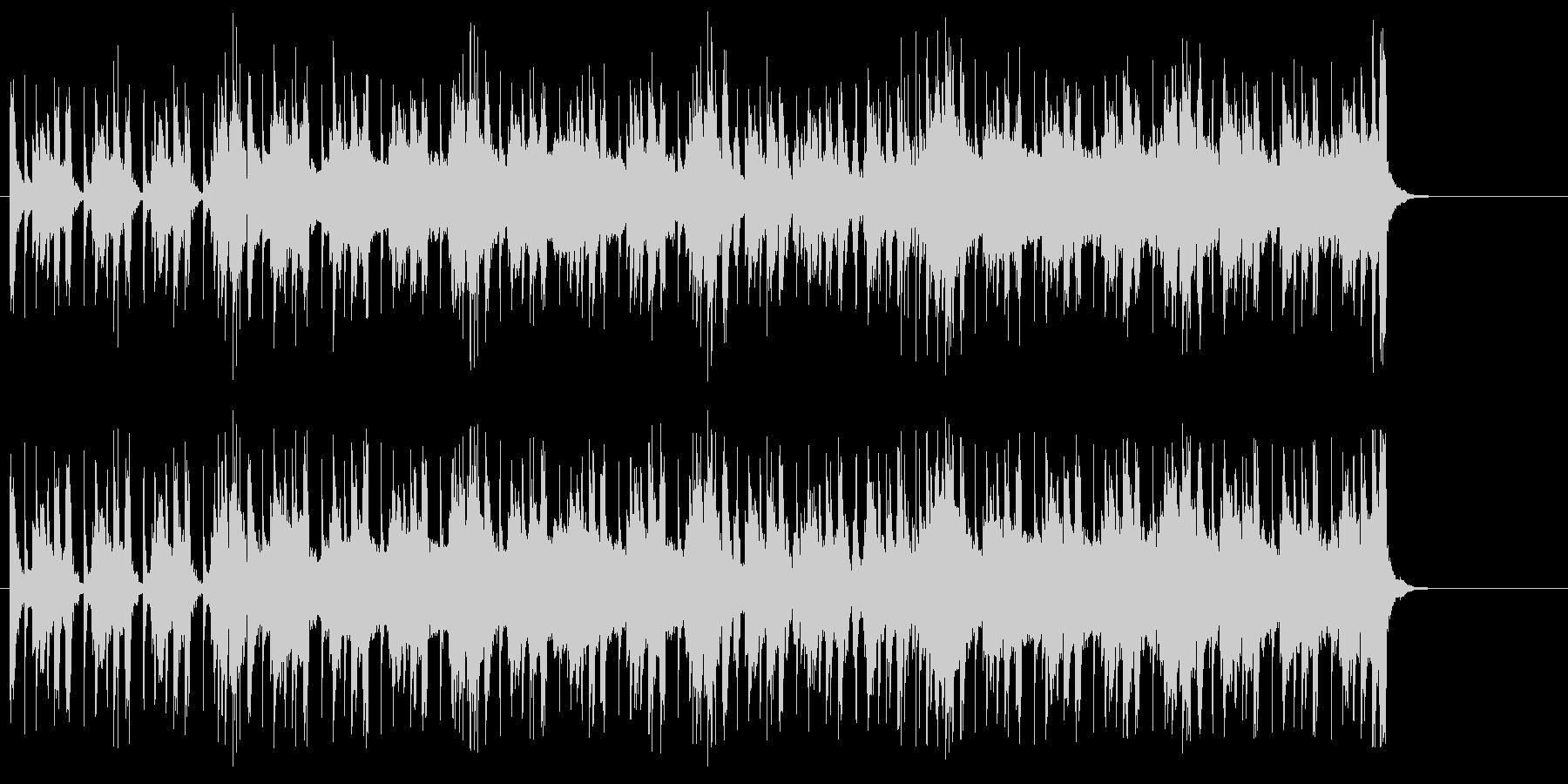 ヘヴィーなドキュメントタッチのBGMの未再生の波形