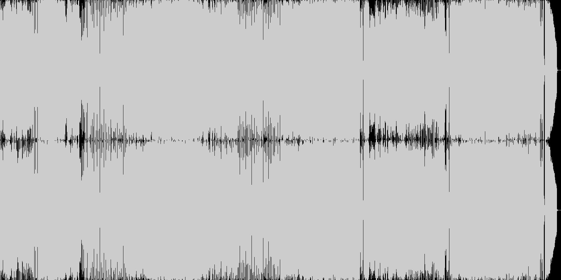 メロコア調のノリの良い楽曲の未再生の波形