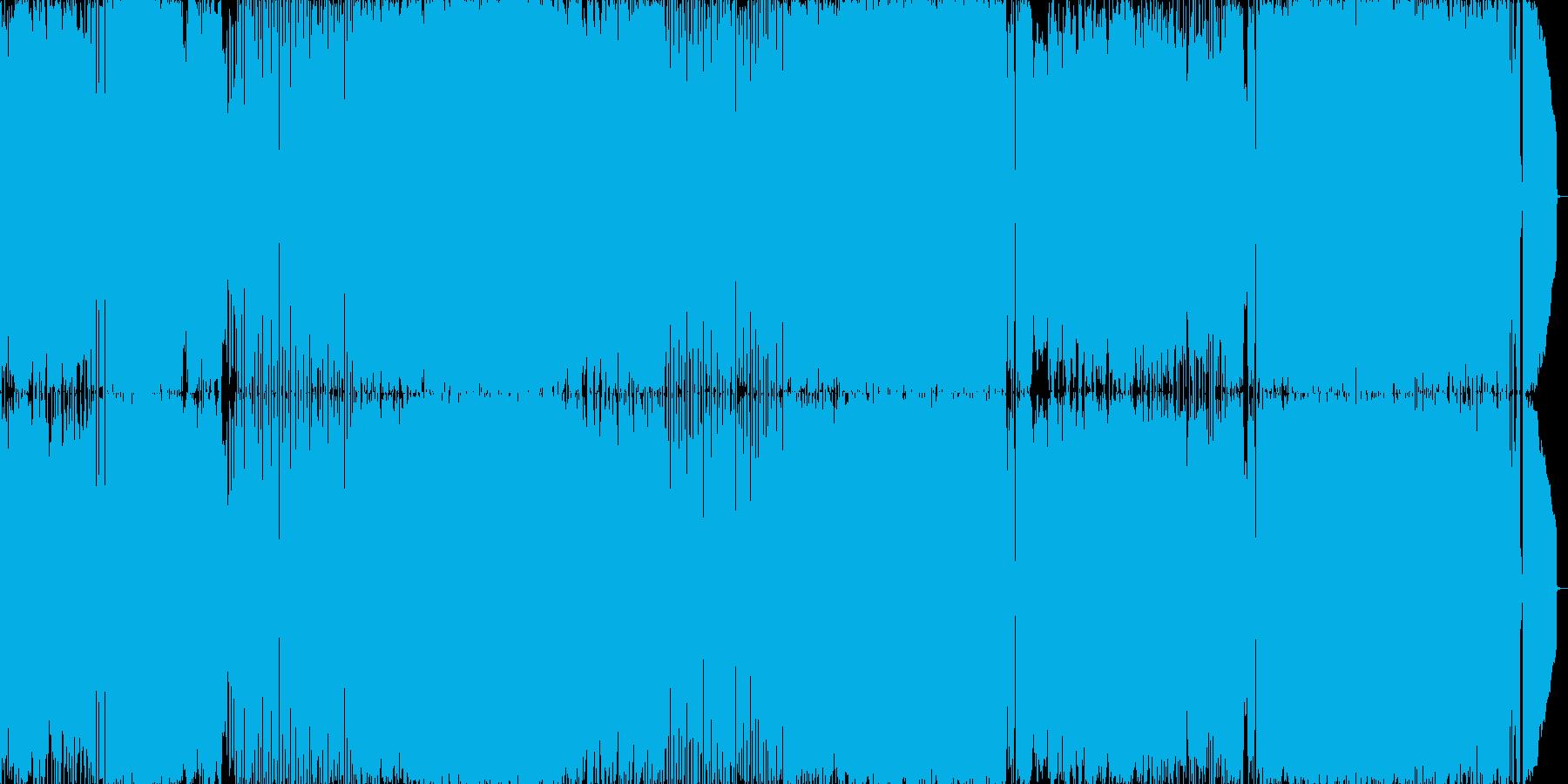 メロコア調のノリの良い楽曲の再生済みの波形