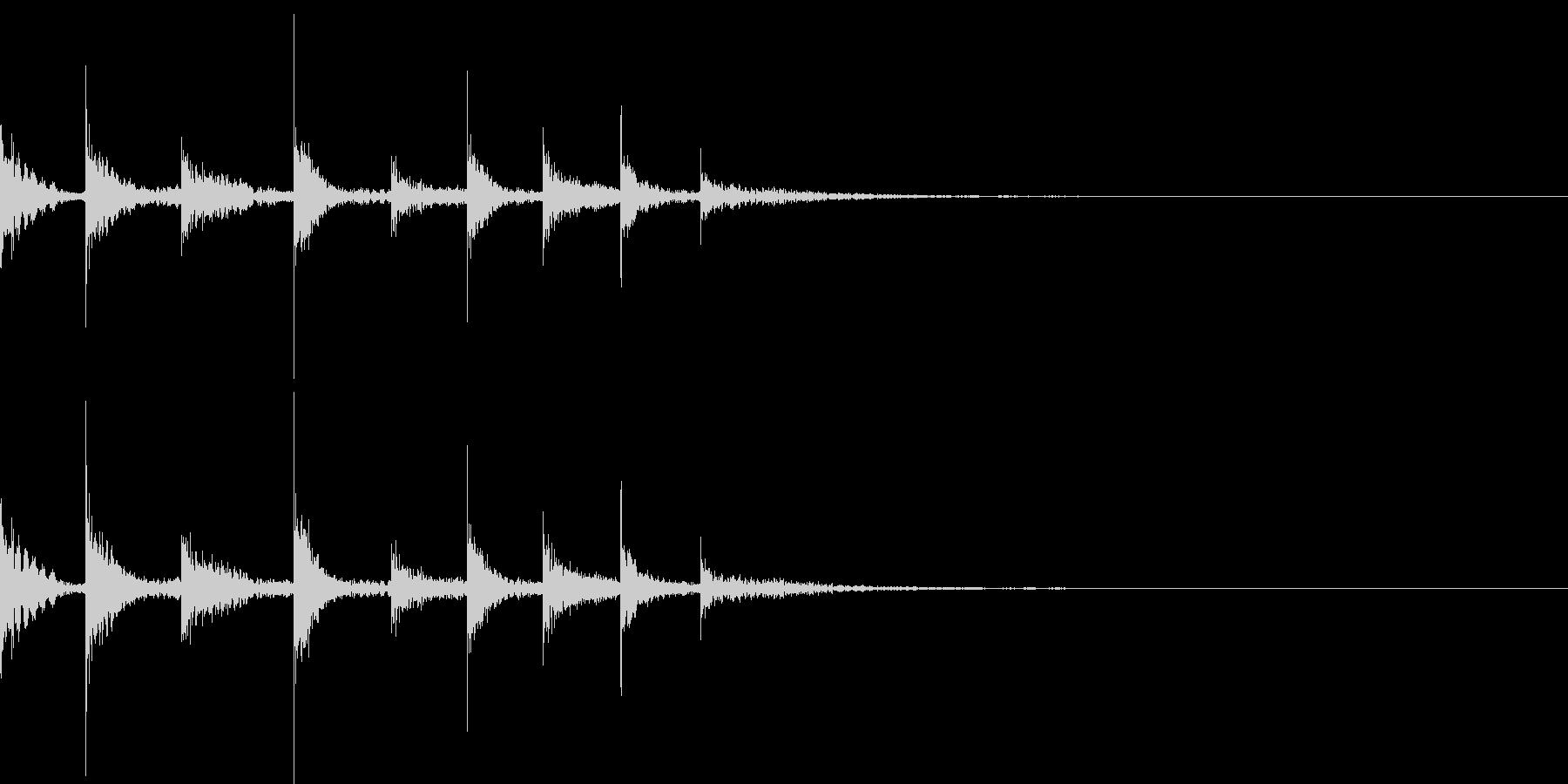フレクサトーンの音の未再生の波形