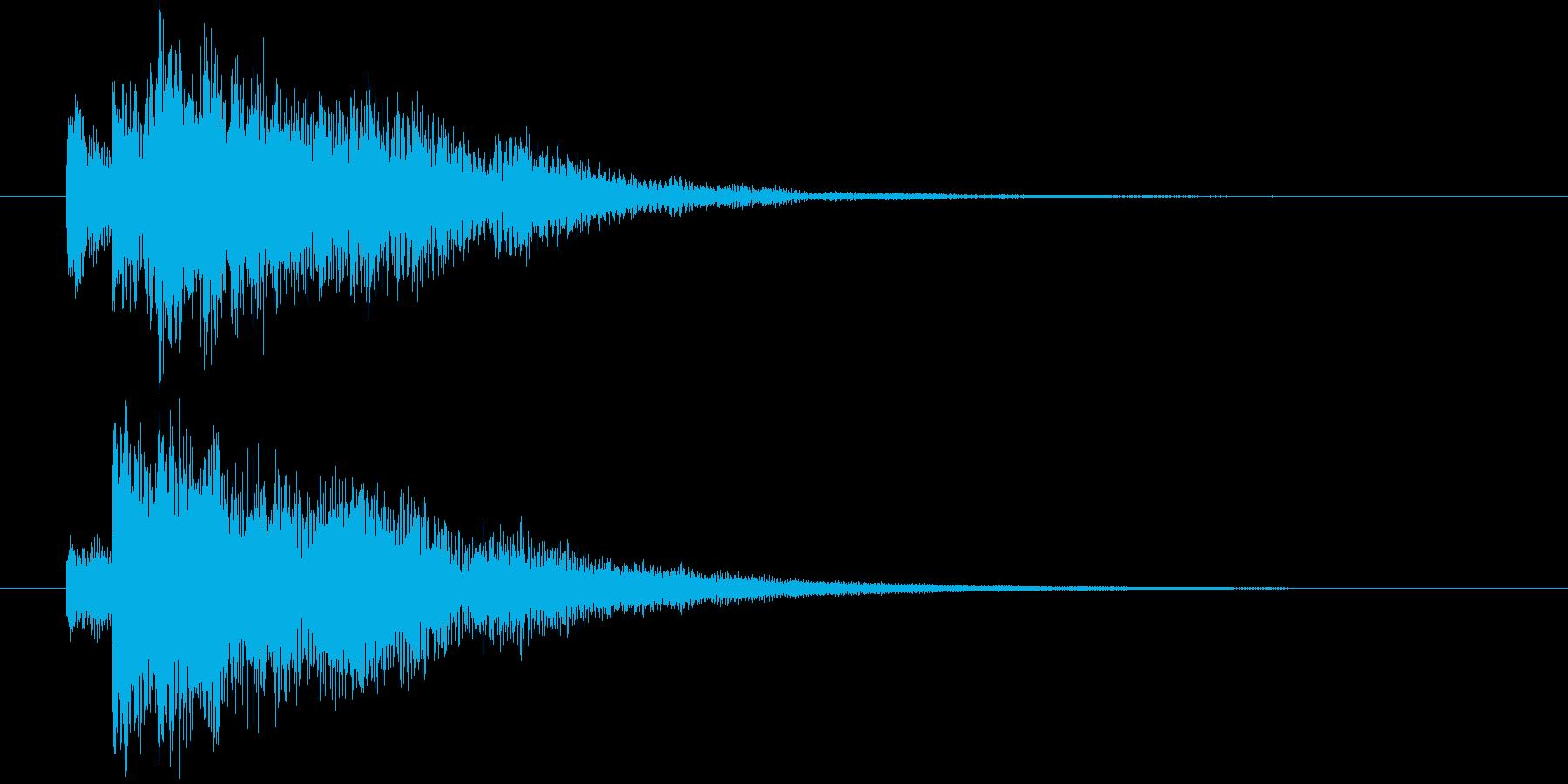 システムSE(決定音)の再生済みの波形