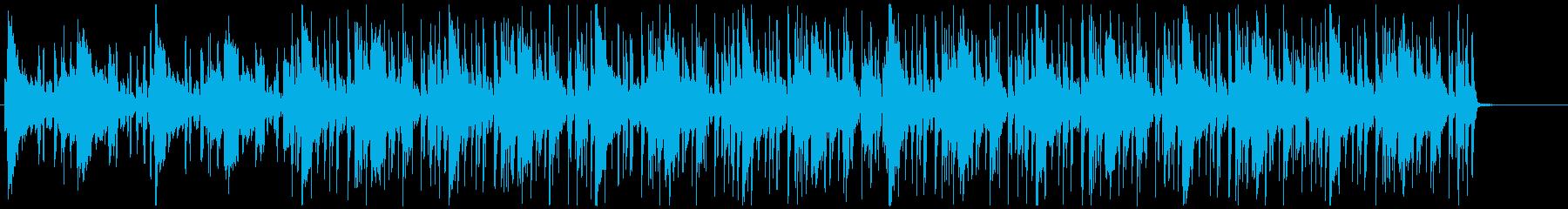 緊張感と疾走感のあるファンクミュージックの再生済みの波形