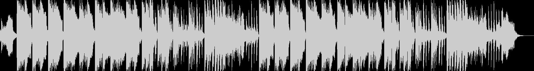 ほのぼの、ゆったりした笛のメロディの未再生の波形