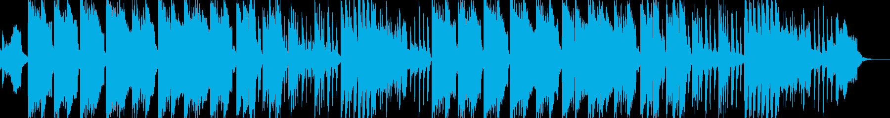 ほのぼの、ゆったりした笛のメロディの再生済みの波形