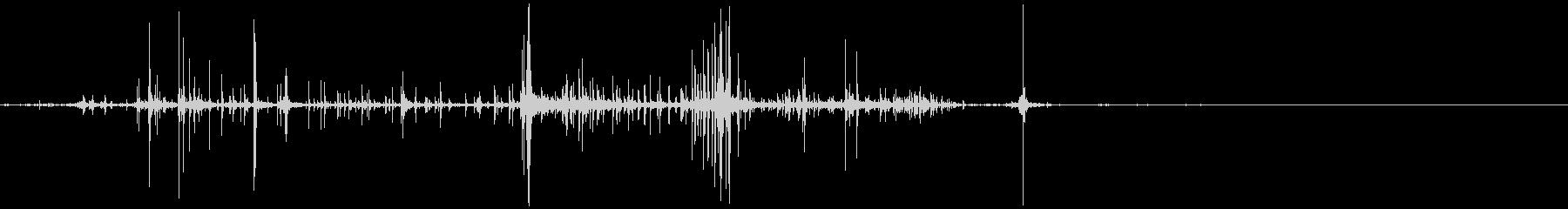 キリキリとした摩擦音 10の未再生の波形