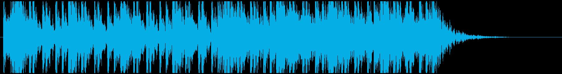 和太鼓のフレーズ3 残響なしBPM140の再生済みの波形