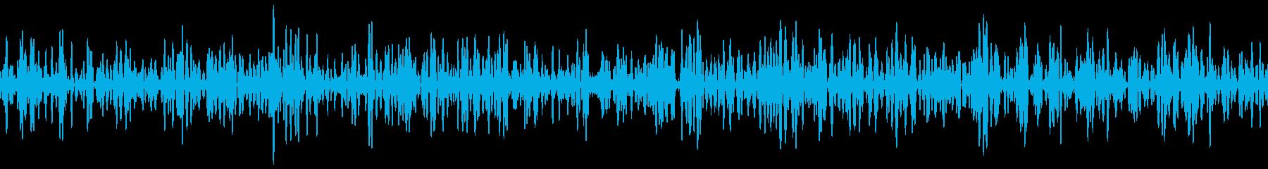 地震ランブルモノの再生済みの波形