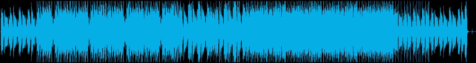ギターとピアノのLofiヒップホップの再生済みの波形