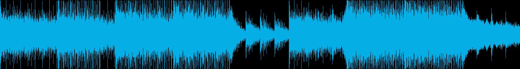 映像作品向きな爽快なBGM ループの再生済みの波形