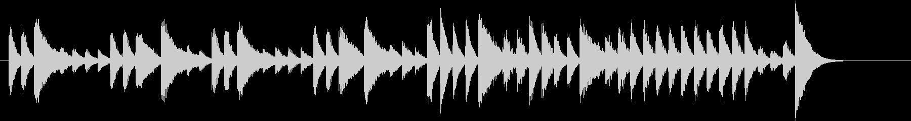 ウインターワンダーランドピアノジングルAの未再生の波形