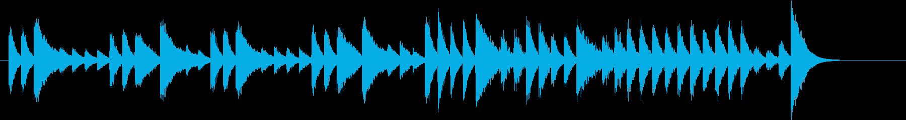 ウインターワンダーランドピアノジングルAの再生済みの波形