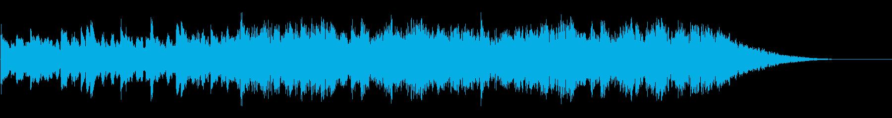 ピアノのパターン、ストリングス、そ...の再生済みの波形