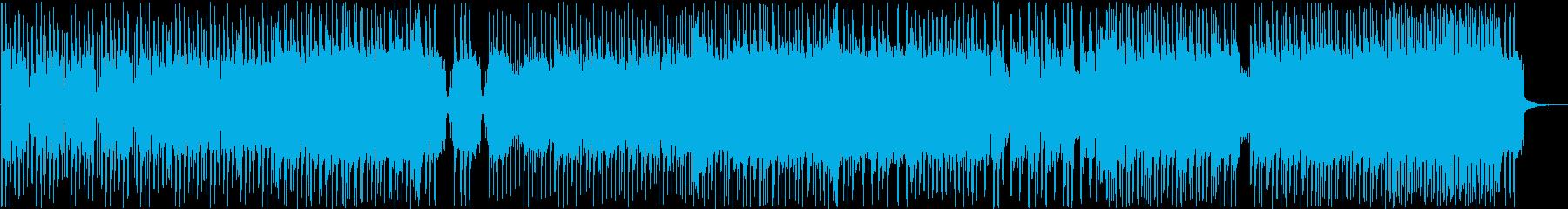 ギターのリフが印象的なロックの再生済みの波形