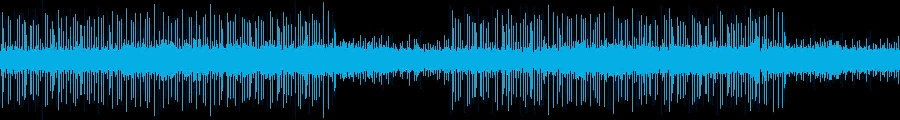 ループ:柔らかく勢いあるドラムンベースの再生済みの波形