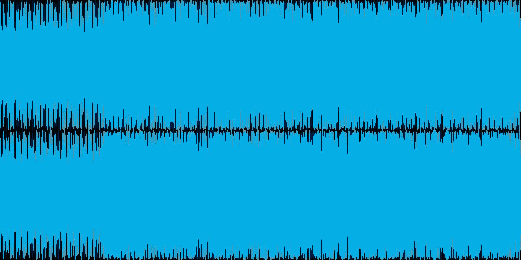 ギターのうねりとインダストリアルなFX…の再生済みの波形