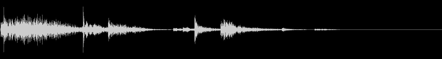 【生録音】鎖を軽く引っ張る音 1の未再生の波形
